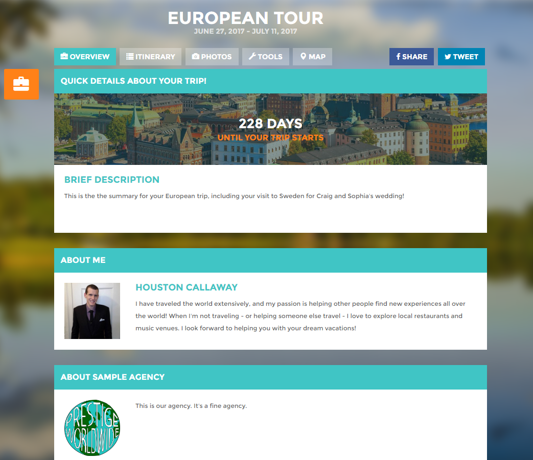 travel itinerary template software for travel agencies