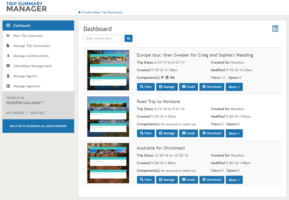 travel itinerary template software for travel agencies vecto